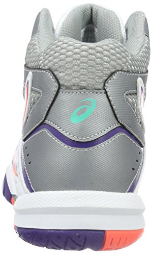 Asics Damen Gel-Task MT Volleyballschuhe Mehrfarbig (White/Flash Coral/Parachute Purple)