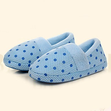 zhENfu donna pantofole & amp; flip-flops comfort per l'inverno Felpa casual tacco piatto blu porpora arrossendo rosa Blushing Pink