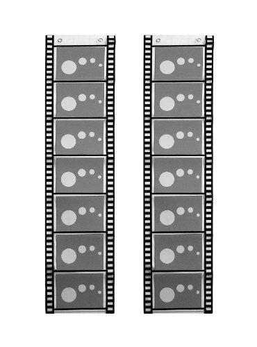 für 7 Fotos Querformat Filmstreifen Deko Foto Bilder Karten Halter Fotowand Fotohalter Kartenhalter 2 Stück (Bilderrahmen Filmstreifen)