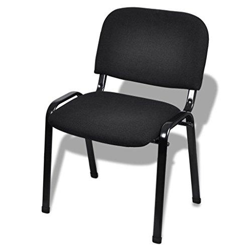 Festnight 4 Stücke Stapelbare Bürostühle Stapelstuhl Konferenzstuhl 54x59x78cm Besucherstuhl...