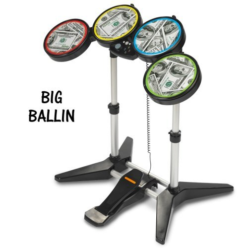 Rock Band Drum-Folien, passt für Xbox 360 / PS3 / PS2 / WII Rockband Drums -