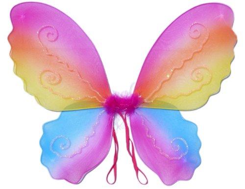 Schmetterlings-Flügel / Feenflügel Kostüm für Mädchen - Rainbow Markenname (Für Mädchen Feenflügel)