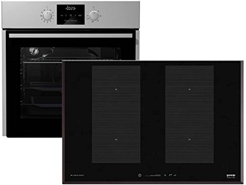 Gorenje Set Backofen BO 637 E13X + Induktion Glaskeramik Kochfeld IS 756 USC Backofenset Einbau