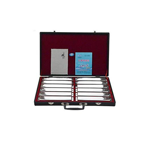 Preisvergleich Produktbild KUQIQI 24-Loch polyphone Mundharmonika für Erwachsene Professionelles Spielen Stufe 7 Einstellbar ABCDFG 12 Akzentanzug,  Professionelles Leistungsset,  Geschenkbox,  Silber,  Gold,  Leistung,  Wettbewerb