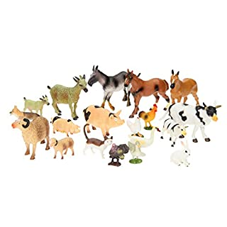 UMKYTOYS Farm Animal Toys Set Of 20 Pieces Kids toddlers playset