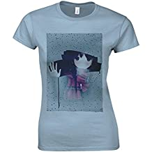 Anime Girl Manga Raining Windows Cool Light Blue Women T Shirt Top-XXL