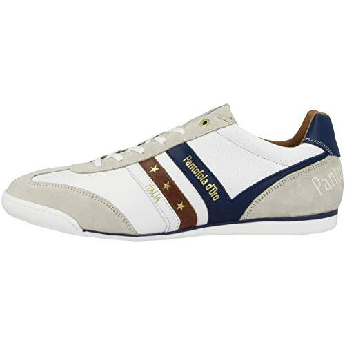 Pantofola d'Oro VASTO Uomo Low Sneaker in Übergrößen Weiß 10191037.1FG/10191067.1FG große Herrenschuhe, Größe:50