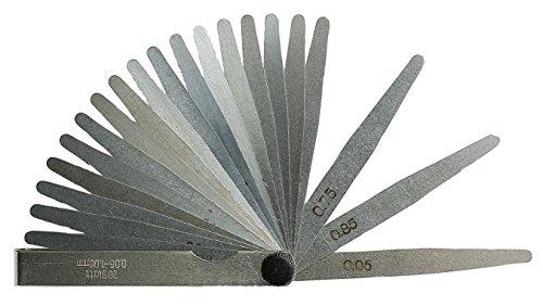 21- teilige Präzisions Fühlerlehre Messbereich 0,05-2,0 mm - Länge 100 mm