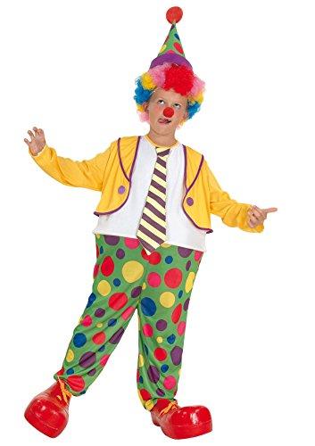 Fiori Paolo Clown Costume per Bambini, Multicolore, 5-7 anni, 61024.M