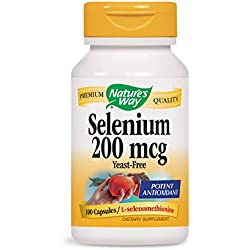 Sélénium Nature's Way 200  mcg, 100  gélules