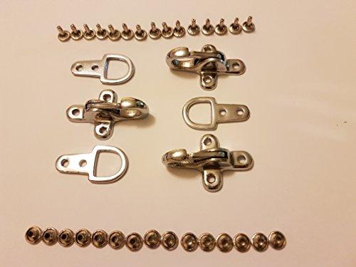 Kuttenverschluss Hakenverschluss Karabiner Verschluss Ersatzverschluss in Silber für Leder Westen 3 Stück