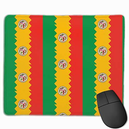 Los Angeles LA Flag Stripe_42931 Mouse pad Custom Gaming Mousepad Nonslip Rubber Backing 9.8