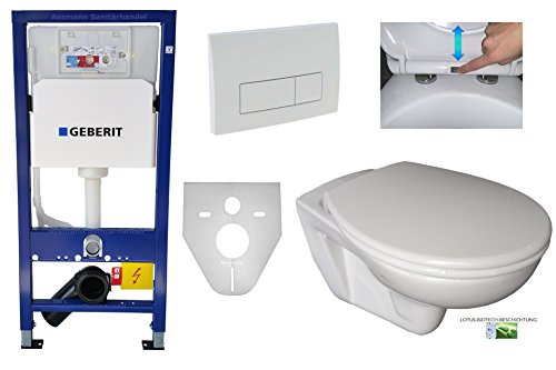Geberit Duofix UP 100 Vorwandelement WC SET Pl. 51 weiß Schallschutz WC Lotus Absenkautomatik abnehmbar