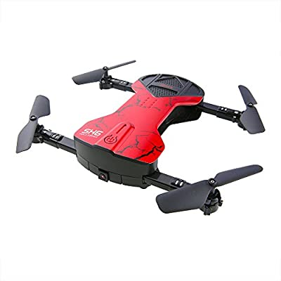 ?Upgrade Version ?Quadcopter Drone with Camera,MindKoo Foldable 2.4G 4CH with 6 Axis Headless Mode One-Key Return and 3D Flip Nano Quadcopter for Drone Training