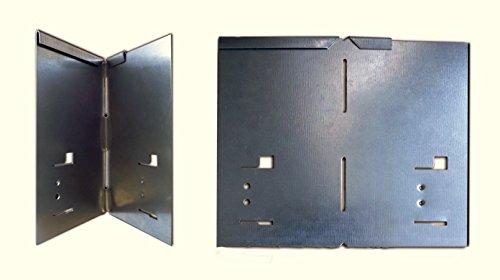 HN Kernstützen Metallwaren Ecke für Rasenkante Metall 8 x 8 x 13,5 cm 2er und 4er Set Beeteinfassung Wegbegrenzung in feuerverzinkt, grün, braun, grau, Farbe :verzinkt, Set:4er Set