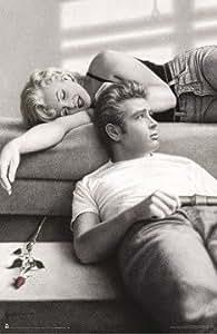 James Dean & Marilyn Monroe Poster Flute Song - Poster Großformat