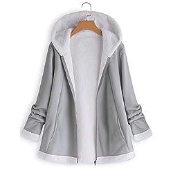 ITISME Damen Strickjacke Damenmode Tasche Winter gebogener Saum Langarm Plüsch Hoodie Mantel Damen Sweatershirt Pullover Outwear Strickpullover