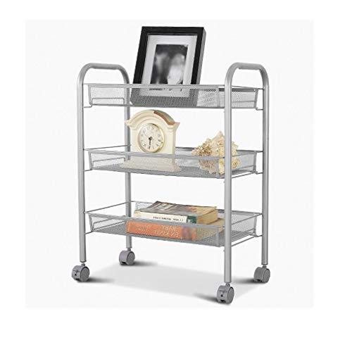 TJZ Multifunktionales Rack für die Küche aus Metall Abnehmbar Lagerregal DREI Laden Auto Silber 27X46X63Cm Regal