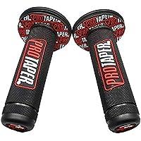 Puño Agarres de goma para manillar de Motocross, Pitbike, Enduro, Trial, MX, Freeride (Rojo)