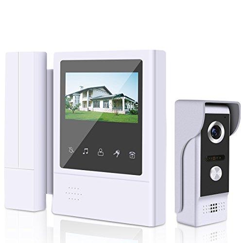 ELENXS Kit Video Citofono Videocitofono Monitor 4.3''...
