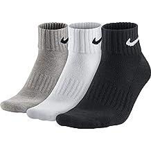 Nike 3Ppk Value Cotton Quarter Calcetines, Hombre, M