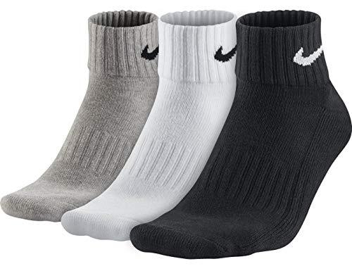 Nike One Quarter Socks 3PPK Value, Mehrfarbig, L