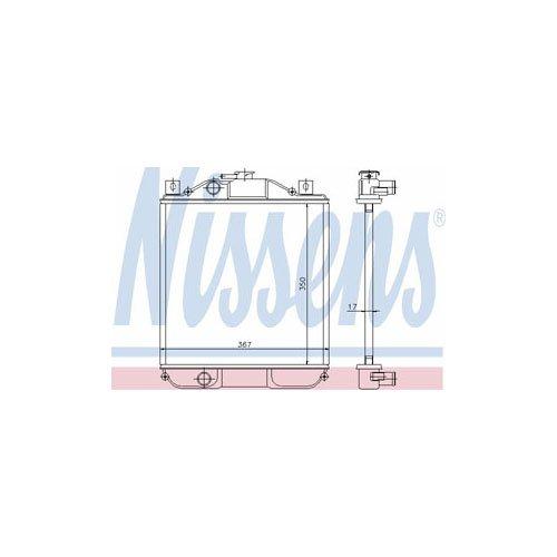 NISSENS 611001 Radiatore, Raffreddamento (Geo Raffreddamento)