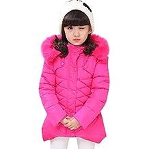 Niña Abrigo de Invierno 2-8 años Acolchado para Niñas Princesas Chaqueta de algodón Dulce