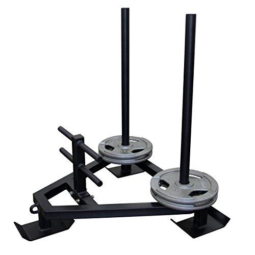 POWRX Gewichtsschlitten - Gym Sled aus massivem Stahl I Sprint- und Zugschlitten I Widerstand-, Kraft- und Lauftraining
