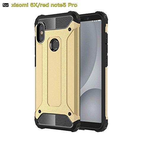 xinyunew Funda Xiaomi Redmi Note 5 Pro, 360 Grados Protección +Vidrio Templado Protector Pantalla Silicona Caso Cover Case Carcasas TPU + plastico Anti Arañazos de Protectora - Oro