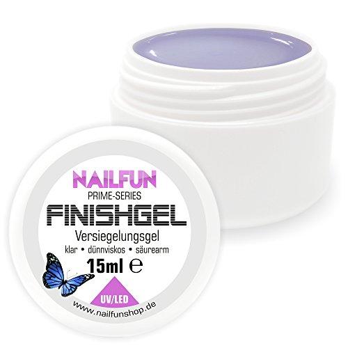 Nailfun Prime Colles Gel [15ml] UV & LED ultra brillant dünnviskose selbstglättend Finition Gel