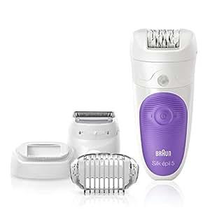 Épilateur Braun Silk-épil 5 5-541 sans fil technologie Wet&Dry avec quatre accessoires supplémentaires, dont une tête de rasage