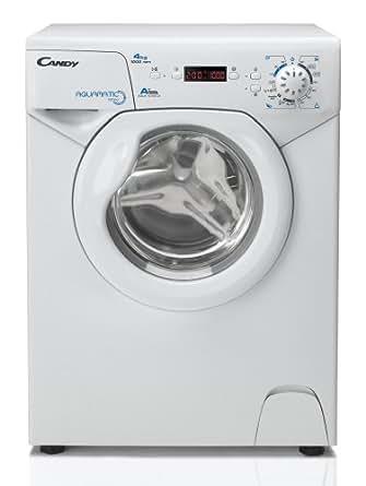 Candy AQUA 1042D1-S Autonome Charge avant 4kg 1000tr/min A+ Blanc machine à laver - machines à laver (Autonome, Charge avant, Blanc, boutons, Rotatif, Droite, Vert/rouge)