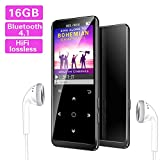 Lettore MP3,16GB Bluetooth con Radio FM/Registratore Vocale/Foto/E-book,Mibao MP3 Player con 1.8'TFT...
