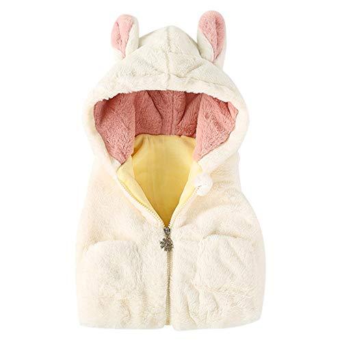 Vovotrade☃ 6m-24m bambino giacca autunno e inverno gilet, neonato ragazzi e ragazze orecchie giacca cartone animato giacca e giacca imbottita di velluto gilet invernale abbigliamento caldo