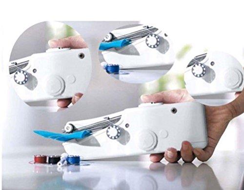 Mini máquina de coser portátil eléctrica. De bolsillo inalámbrico para la casa, en viaje-Máquina de coser a mano -