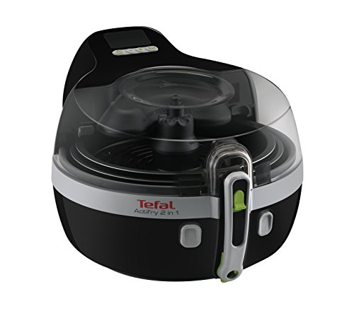 An image of the Tefal YV960140 ActiFry 2-in-1 Health Fryer, 1.5 kg Capacity, 2 Cooking Zones, Black