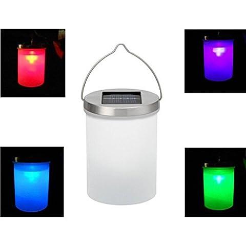 Aoneky Outdoor Cylinder LED Solar Light for Garden Decoration- Chandelier