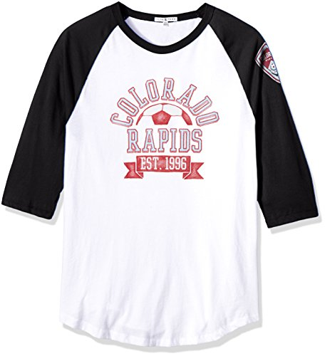 Junk Food Herren 3/4 Raglan Tee, Herren, Clothing Men's MLS Raglan, Ew/Tb, X-Large -
