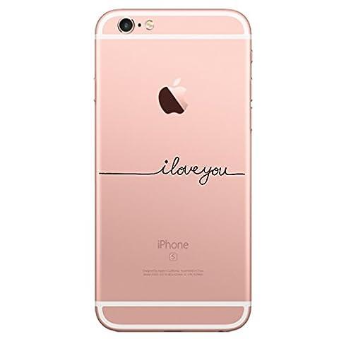 Qissy® Coque iPhone 6 plus ,pour Apple iPhone 6 plus / 6S plus Coque Transparent TPU Silicone Doux TPU Case Cover Housse Etui pour Apple iPhone 6 plus / 6S plus 5.5