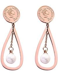 770fab622854 Amazon.es  monedas plata - Plata   Pendientes   Mujer  Joyería