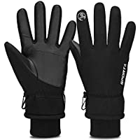 TOLEMI Winter Gloves for Men, -20℉ Coldproof Ski Gloves 3M Thermal Insulated Gloves Touchscreen Gloves Snowboarding Gloves for Cycling Running Climbing Hiking Outdoor Sports