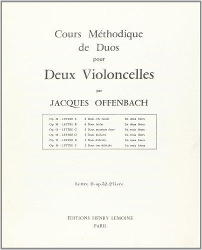 Cours duos violoncelles Op.52 n°2