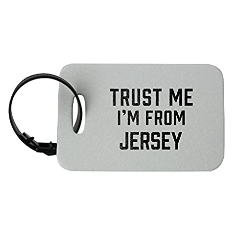 Luggage tag with Trust me I am from
