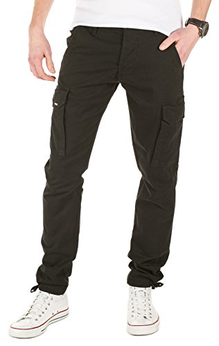 yazubi-mens-casual-cargo-trousers-chino-pants-jan-black-2000-w30-l32
