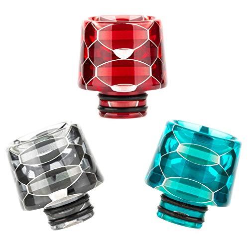 Drip Tip 510 Anschluss für Verdampfer Honeycomb Schlangen Optik Mundstück Driptip Resin E-Zigaretten (Schwarz)