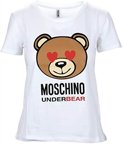 Moschino t-shirt girocollo unisex underwear orso bear colore bianco am18mo03