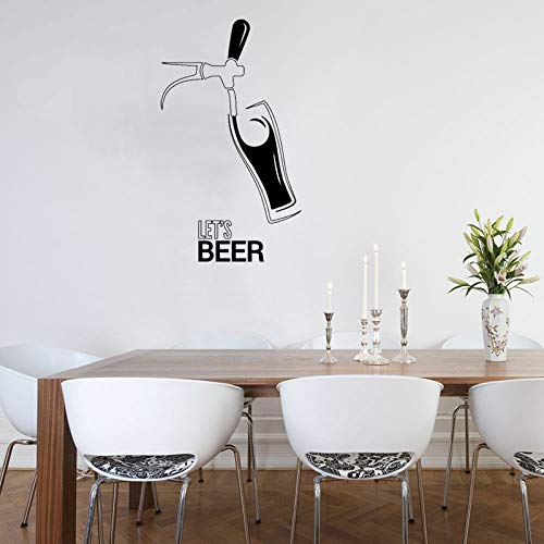Bar Club Bier Muster Wandaufkleber Fenster Logo Kunstwand Party Drink Adhesive Removable Creative Decor 33 * 57 cm ()