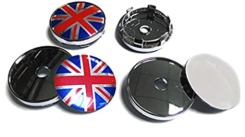 quy Emblem Badge Aufkleber Wheel Radkappen Center Cover FLAGGE UK British Mini Jaguar Cooper (4Stück)
