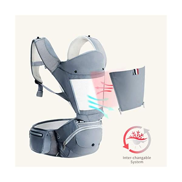 """Front Carriers Baby Sling Waist Stool Multi-Function Four Seasons Universal Seat Baby Sling Front Front Holding Baby Artifact Infant Products Love lamp -front carriers 【Shoulder & Back-Friendly】Extra padded shoulder straps supportive waist belt evenly distributes the weight of the child adjustable straps create a comfortable fit for Moms and Dads of all body types ❤This product is a baby multi-purpose strap waist stool, four seasons universal baby seat stool. ❤This product adopts high-energy """"black technology"""" and innovative 3D memory cotton stool. 7"""